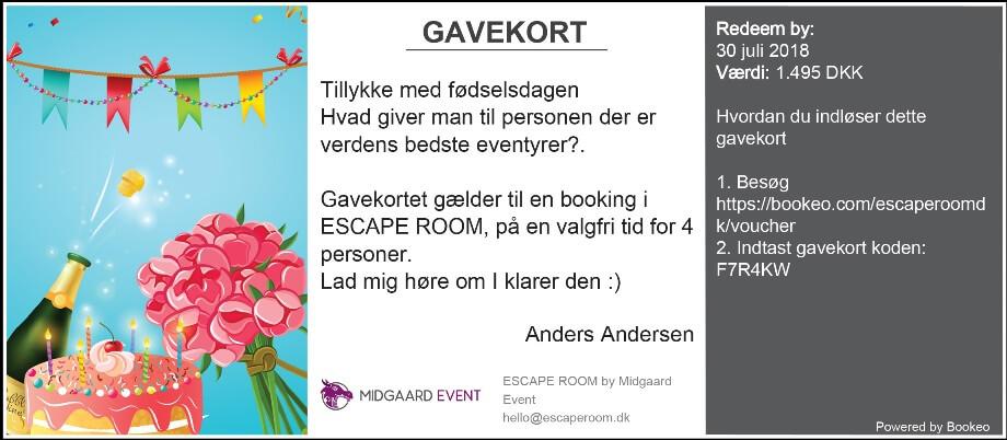 Gavekort Escape Room København